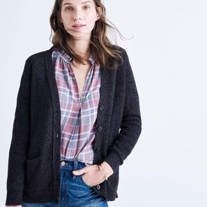 Madewell Gray seedstitch button down cardigan